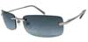 Blue Gradient Gunmetal Sunglasses